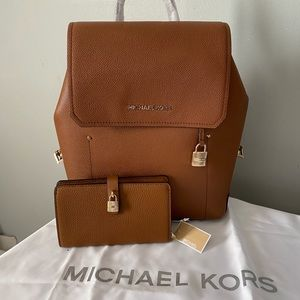 Michael Kors Hayes backpack with matching wallet